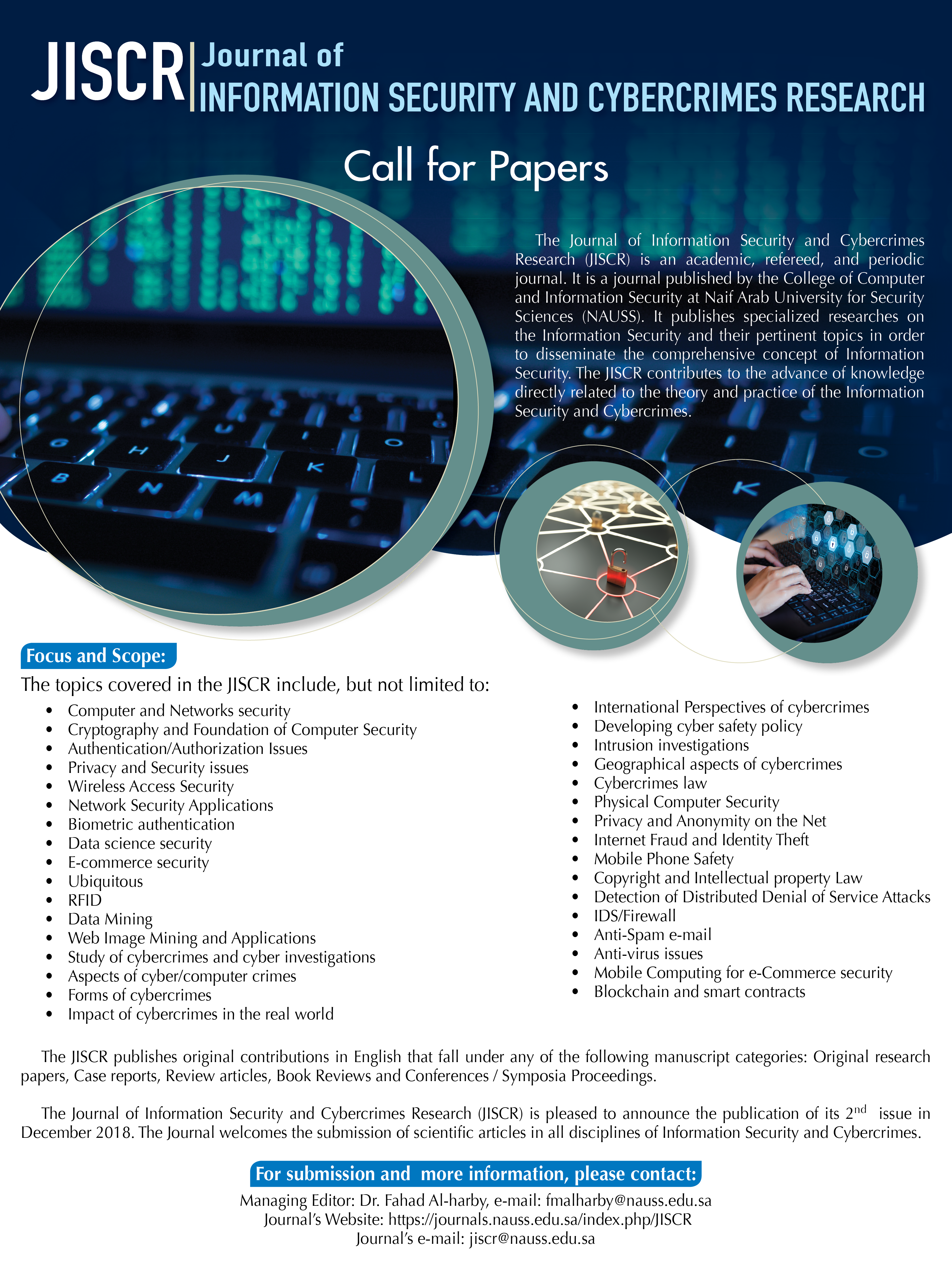 Journal of Information Security and Cybercrimes Research ( JISCR )